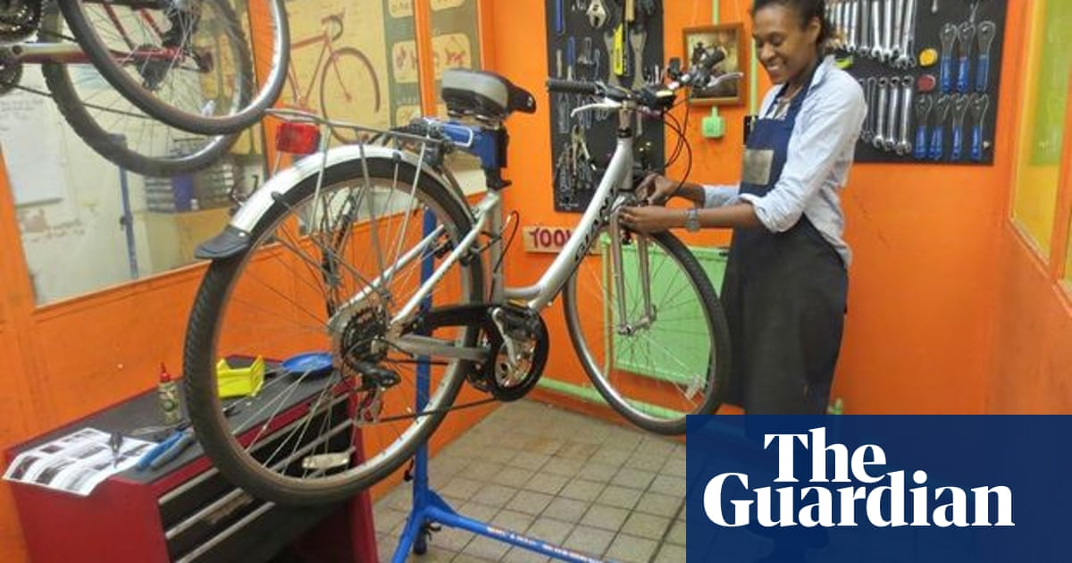 Bicycle repair: taking it apart is the first step to putting