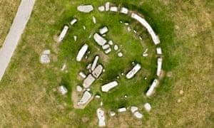 An orthophoto of Stonehenge
