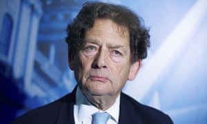 Lord Nigel Lawson, ex-Chancellor, during an interview at the London Stock Exchange