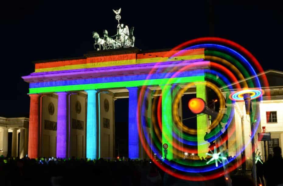 Berlin lights show