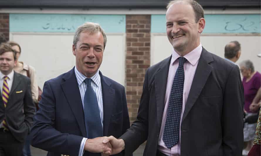 Nigel Farage and Douglas Carswell in Clacton-on-Sea