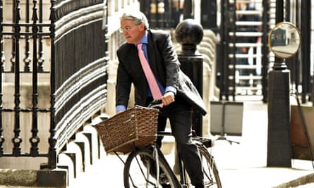 Andrew Mitchell at Downing Street. Plebgate scandal