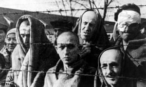 Prisoners at Auschwitz concentration camp.