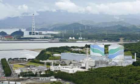 Sendai nuclear power plant in Japan