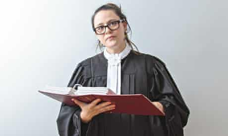 Law student with a folder