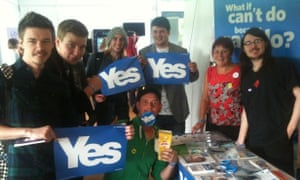 The Yes stall at Perth College Freshers' Fair.
