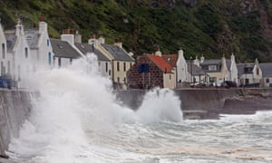 The famous coastal village of Pennan, Aberdeenshire, Scotland.