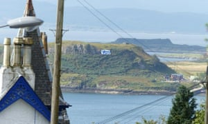 A view of the isle of Kerrera from Oban, Scotland.