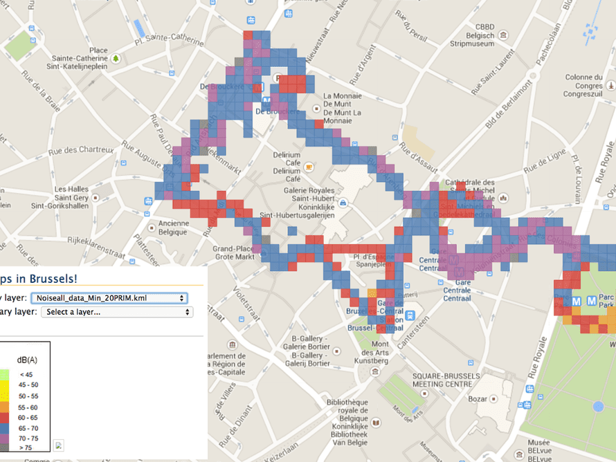 Brussels noise map