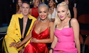 Bright lights: with Rita Ora and Gwen Stefani at the 2014 MTV Video Music Awards in California.