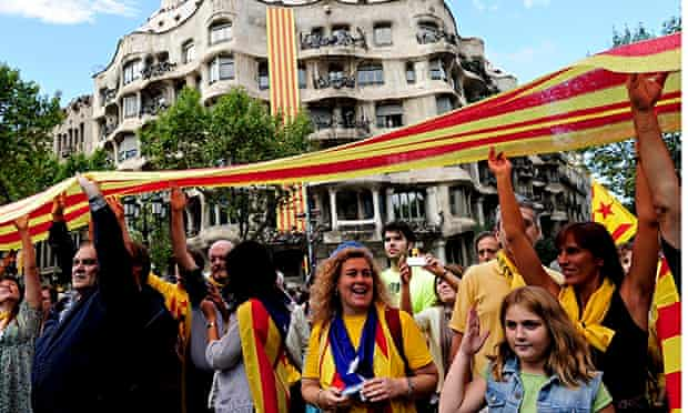 Catalonia National Day in Barcelona