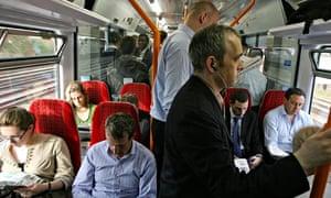 Rush hour train overcrowding