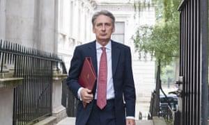 The defence secretary, Philip Hammond.