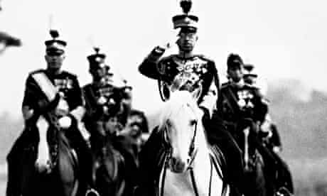 Emperor Hirohito at a military review in Tokyo in 1937