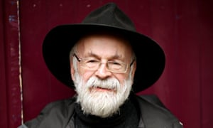 Terry Pratchett in black hat