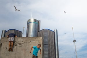 Day #494 Playing near the Renaissance Center