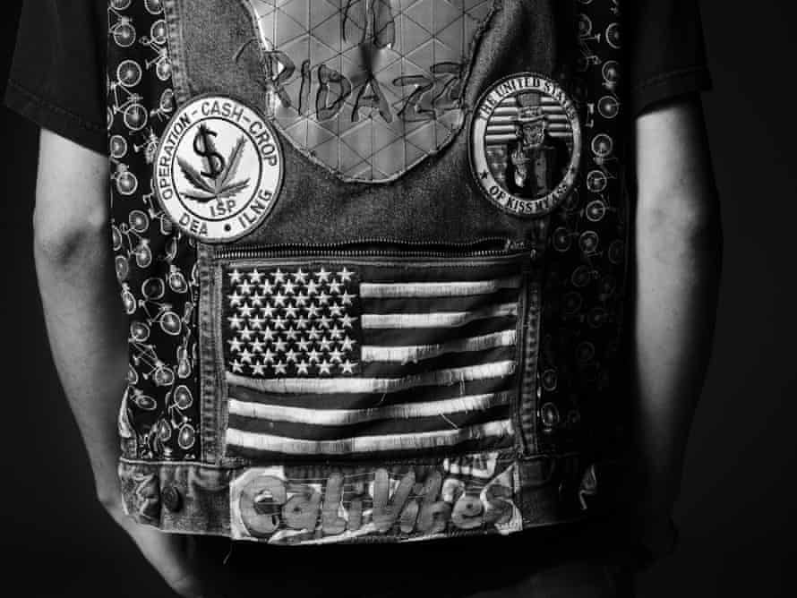 Flying the flag: afan's customised jacket, photographed by Hedi Slimane in Los Angeles.