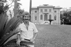 Sampdoria's new signing Graeme Souness in the garden of his new home in Genoa.