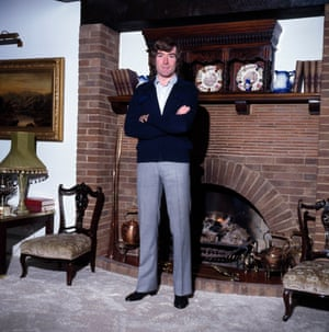 Arsenal and Northern Ireland goalkeeper Pat Jennings at his home in Hertfordshire.