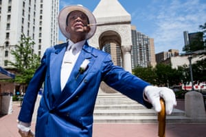 """Day#257 Self-proclaimed """"Mr. Detroit"""" poses in Campus Martius Park"""