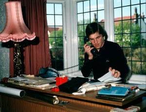 At home with Liverpool's Kenny Dalglish who is trying to keep track of his business affairs by doing paperwork and making phone calls.