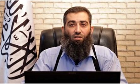 Ahrar al-Sham's new leader, Hashem al-Sheikh, known as Abu Jaber, unveiled in a propaganda video