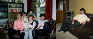 Arsenal and Scotland's Charlie Nicholas relaxes at home with his family. Then is pictured relaxing alone