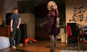 Michael Cera and Tevi Gevinson in a scene from This Is Our Youth by Kenneth Lonergan at the Cort Theatre in New York