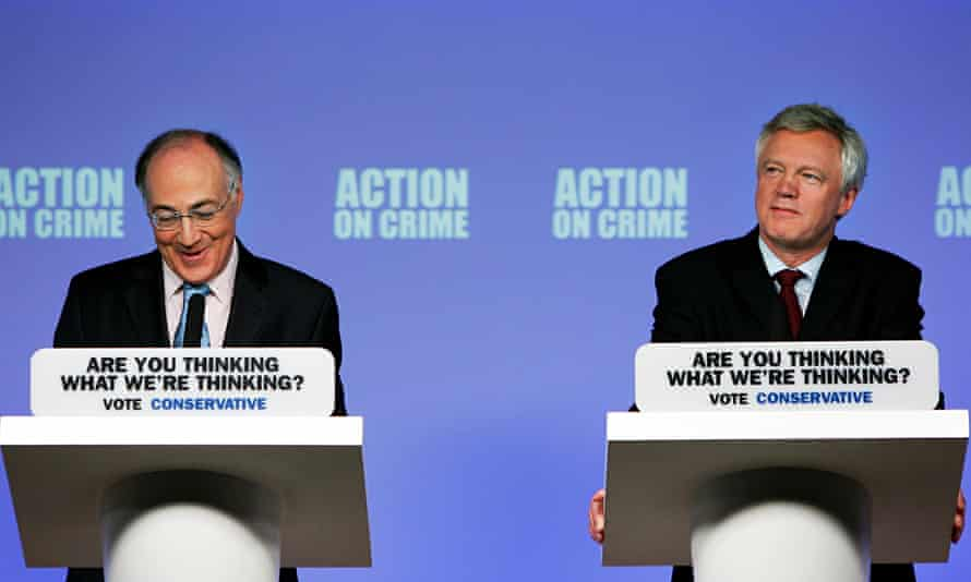 """Michael Howard and David Davis asked the British public: """"Are you thinking what we're thinking?"""" in"""