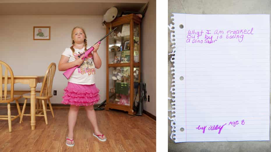 Abby, eight, from Louisiana, poses with her gun for An-Sofie Kesteleyn's My Little Rifle, a series of photographs capturing young girls from the southern US with their firearms.