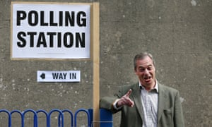 Nigel Farage biggin hill polling station