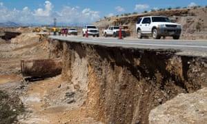 nevada flood runoff damage highway