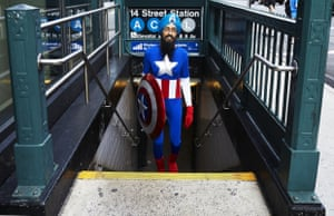 Vishavjit Singh as Captain America.