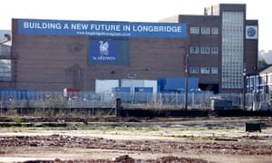 The site of the former MG Rover plant in Longbridge