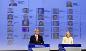 Jean-Claude Juncker announces the distribution of portfolios for new European commissioners