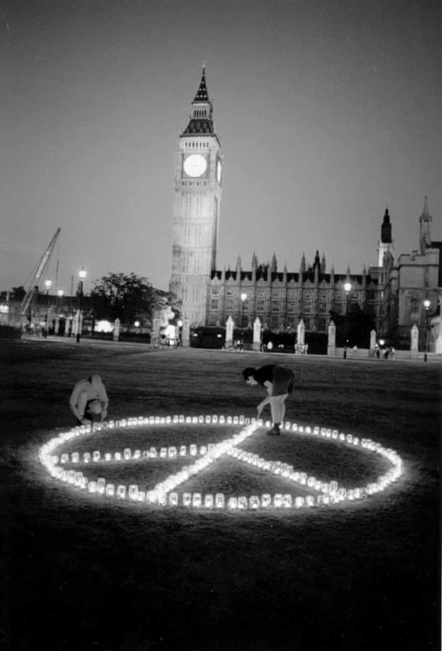 CND logo candles houses of parliament