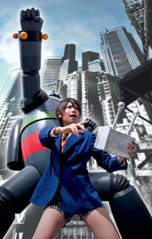 Konomi as Shotaro Kaneda from robot manga Tetsujin 28-go.