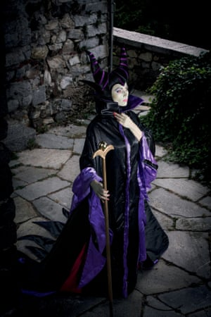 Giorgia as Maleficent from Disney's animated film Sleeping Beauty.