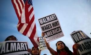 US Money Walmart protest