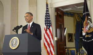 President Barack Obama announced air strikes will take place against Isis in both Iraq and Syria.