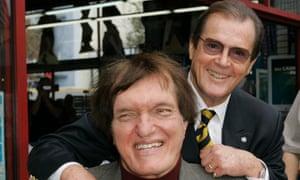 Roger Moore and Richard Kiel at a reunion.