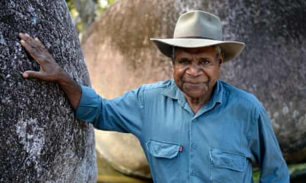 Claude Beeron, a traditional owner and a board member of the Girringun Aboriginal Corporation is passing local knowledge down to the younger generations