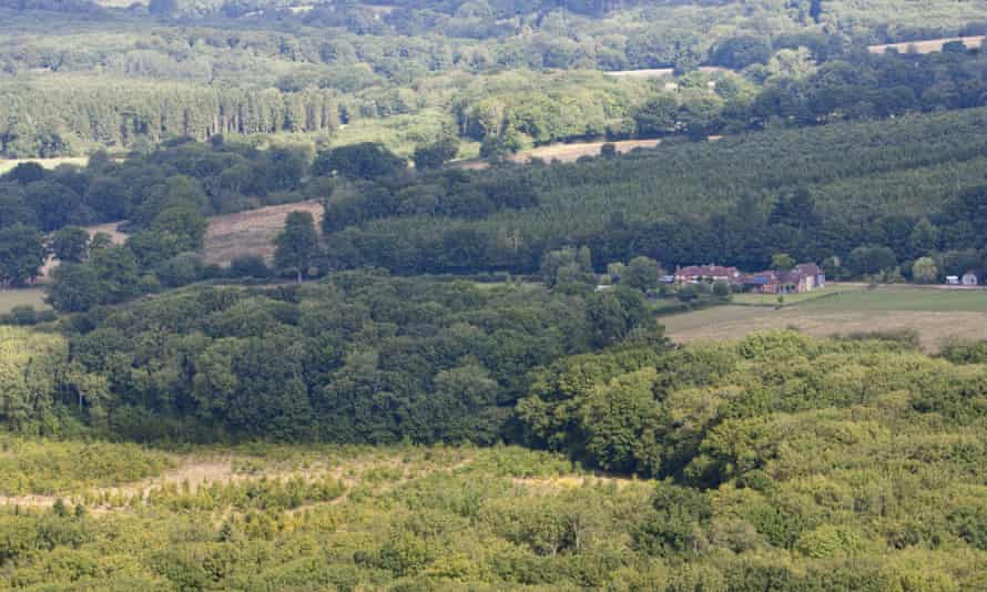 The proposed Fernhurst drilling site in the South Downs national park