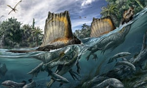 Spinosaurus, the only known dinoasaur adapted to life in water