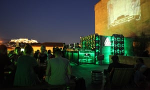 The roof terrace at Bios,