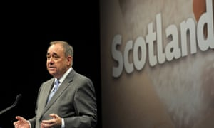 Alex Salmond speaking at his press conference