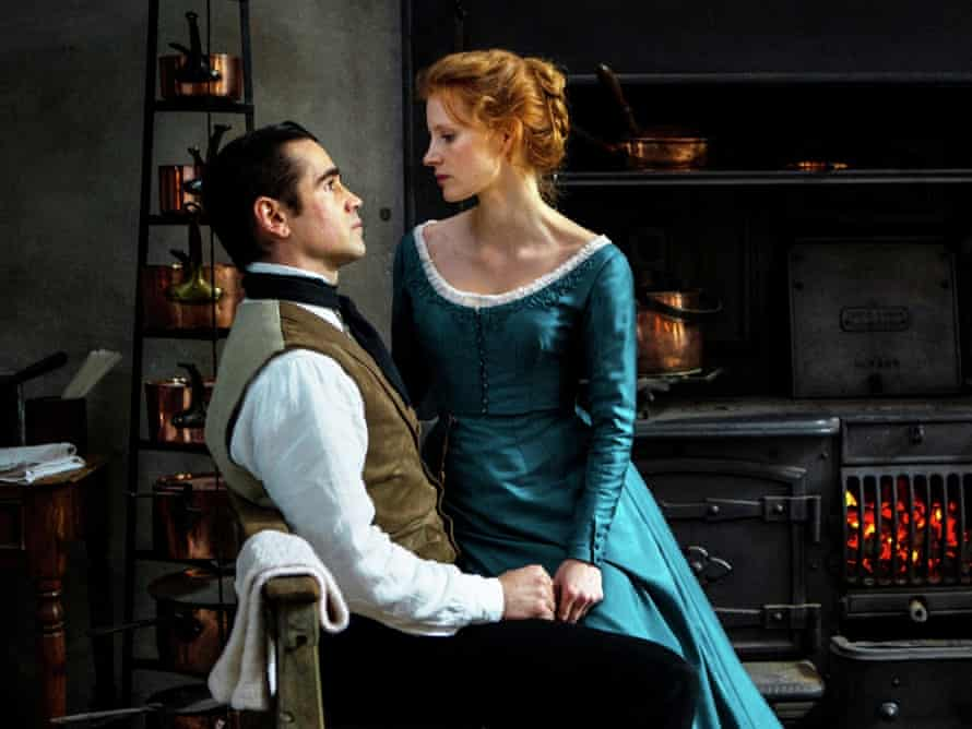 Colin Farrell and Jessica Chastain in Ullmann's film version of Miss Julie.
