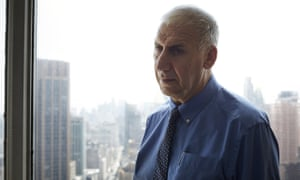 Poet Edward Hirsch photographed at his offices in New York for the Observer.