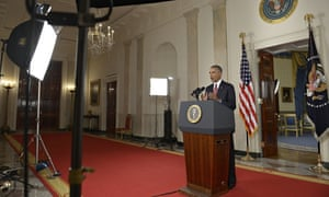 Barack Obama delivers a primetime TV address telling the US that he has authorised air strikes again
