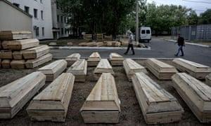 Luhansk coffins